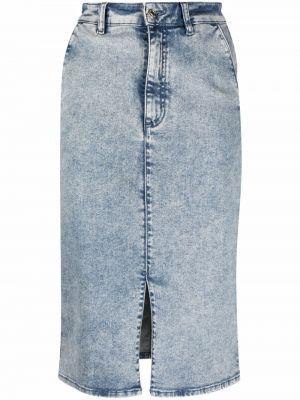 Spódnica jeansowa z paskiem - niebieska Hugo