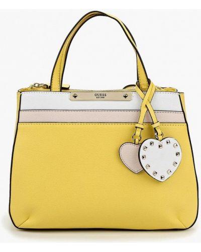 Желтая кожаный сумка Guess