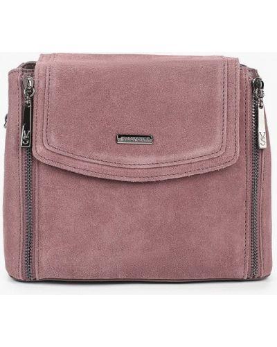 Розовая сумка через плечо из натуральной кожи Valensiy