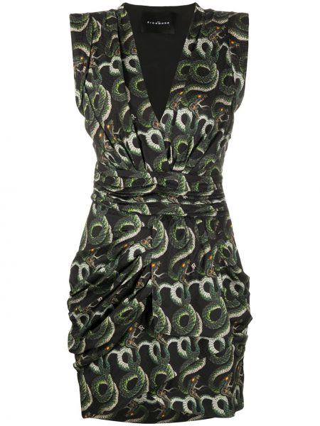 Платье с V-образным вырезом шелковое John Richmond