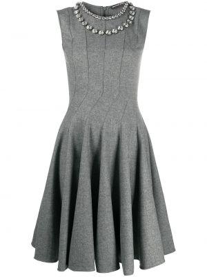 Шерстяное серое платье без рукавов Ermanno Scervino