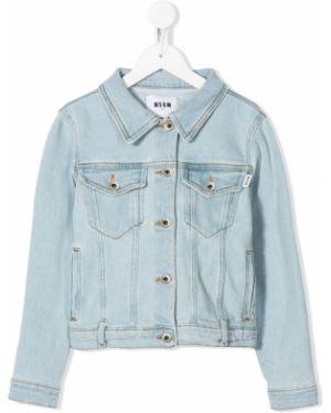Куртка джинсовая синий Msgm Kids