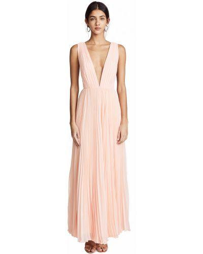 Шифоновое розовое платье макси с подкладкой Fame And Partners