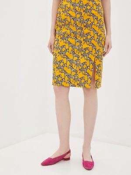 Желтая юбка карандаш с рукавом 3/4 Compania Fantastica