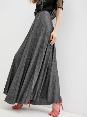 Серебряная плиссированная юбка Trussardi