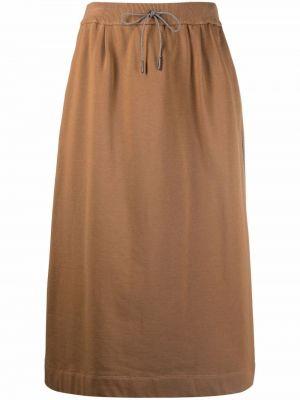 Шерстяная юбка - коричневая Fabiana Filippi