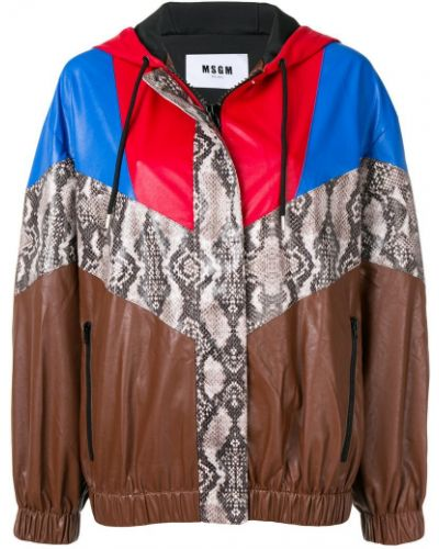 Куртка с капюшоном оверсайз на молнии Msgm