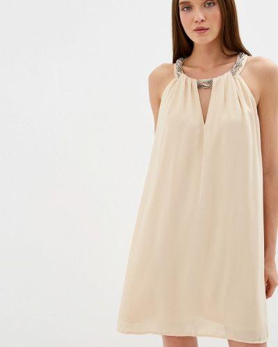 Вечернее платье осеннее бежевое Soky & Soka