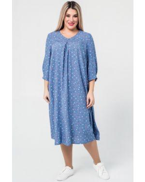 Летнее платье с V-образным вырезом на молнии с карманами с кокеткой Luxury