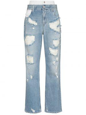 Niebieskie mom jeans z paskiem Rta