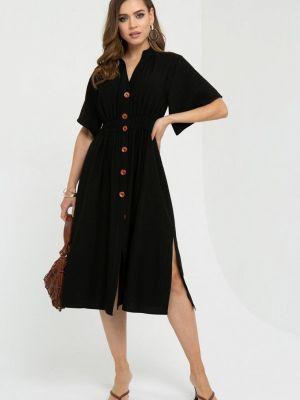 Повседневное черное платье Gold Chic Chili