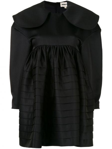 Czarna sukienka mini z długimi rękawami Shushu/tong