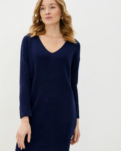 Трикотажное синее вязаное платье Trendyol