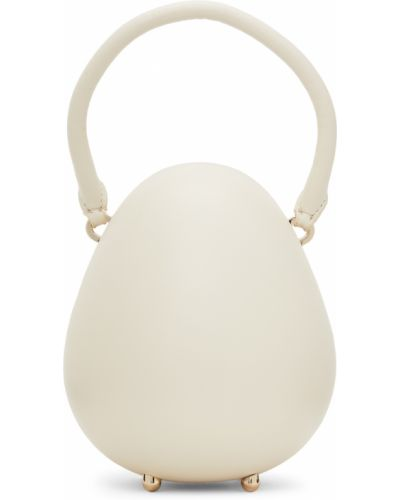 Biała torebka mini skórzana Simone Rocha