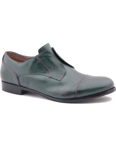 Кожаные туфли - зеленые Fratelli Rossetti