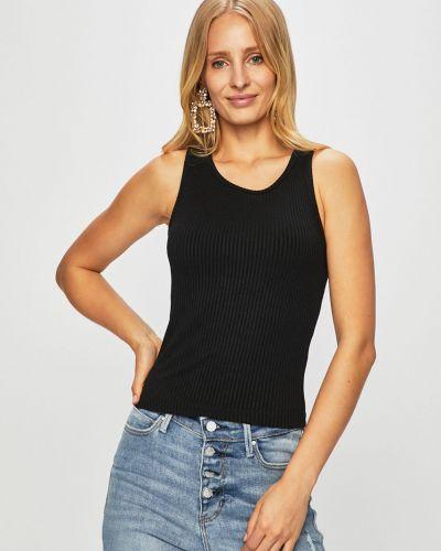 Топ с вырезом - черный Guess Jeans