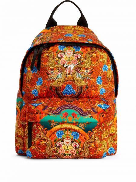 Plecak z printem - pomarańczowy Giuseppe Zanotti