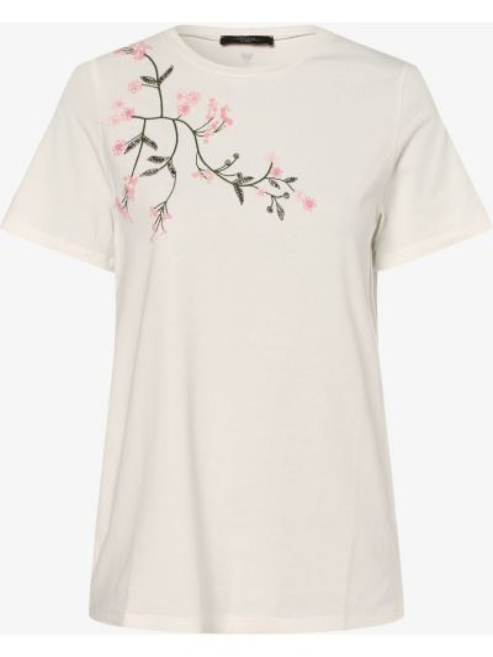 Beżowy t-shirt perły Weekend Max Mara