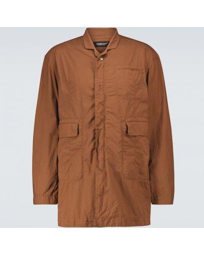 Brązowy płaszcz bawełniany Undercover