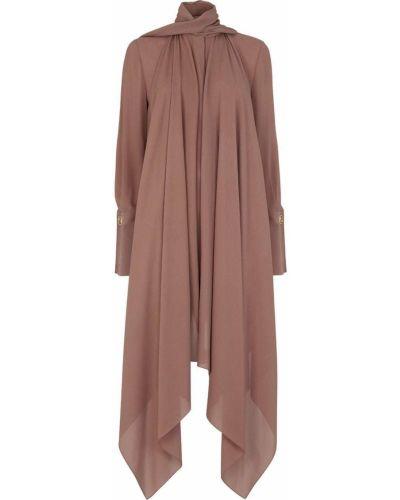 Коричневая длинная рубашка Fendi
