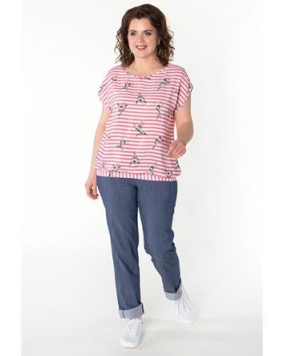 Блузка с коротким рукавом в полоску из вискозы Virgi Style
