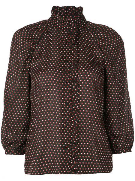 Рубашка с коротким рукавом с принтом черная Frame