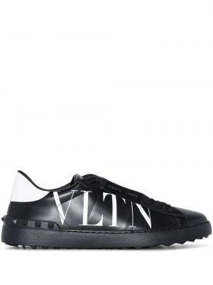 Białe buty sportowe skorzane Valentino Garavani