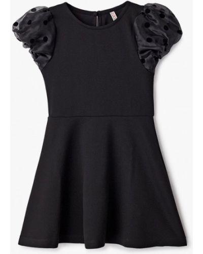 Повседневное черное платье Defacto