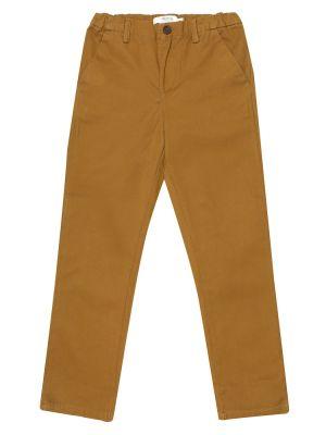 Ватные хлопковые коричневые брюки Bonpoint