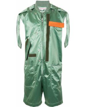 С ремешком зеленый костюм на молнии с воротником Walter Van Beirendonck Pre-owned