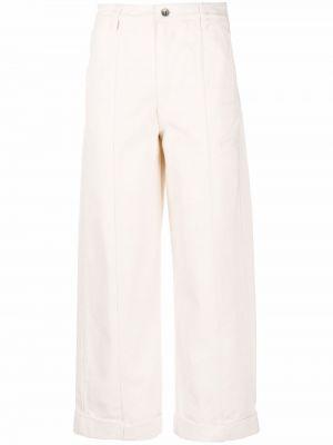 Белые джинсы на молнии Henrik Vibskov