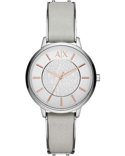 Часы на кожаном ремешке кварцевые водонепроницаемые Armani Exchange