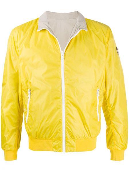 С рукавами желтая куртка двусторонняя Colmar