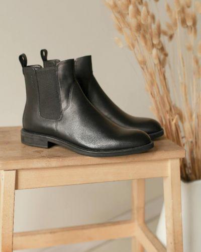 Черные кожаные ботинки челси на каблуке Vagabond