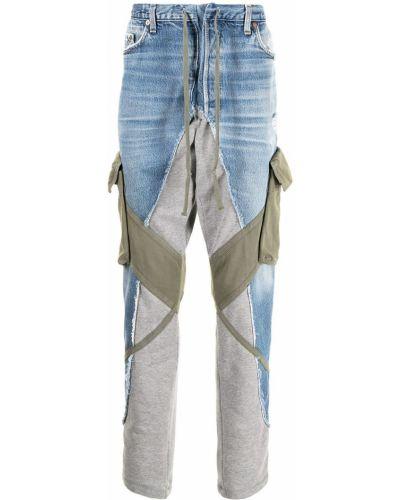 Klasyczne niebieskie jeansy bawełniane Greg Lauren