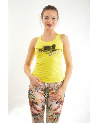 Желтая футболка хлопковая Love Moschino