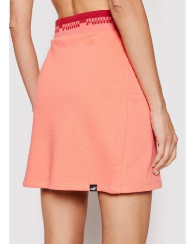 Różowa spódnica mini Puma