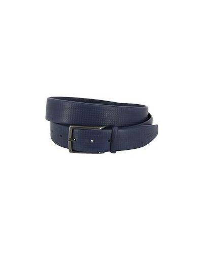 Синий кожаный ремень Harmont&blaine