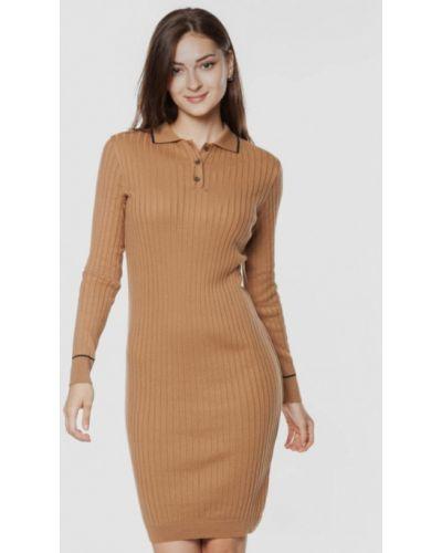 Прямое платье - бежевое Arber
