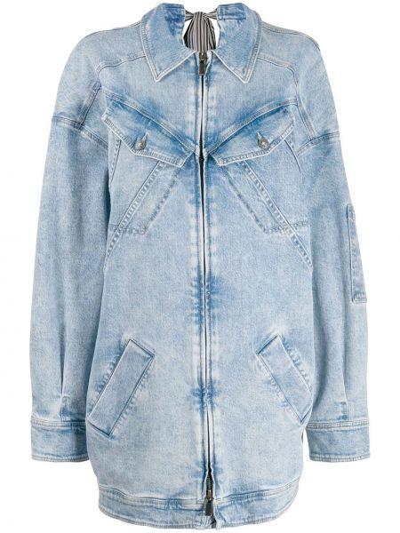 Синее джинсовое платье на пуговицах с воротником с карманами A.f.vandevorst