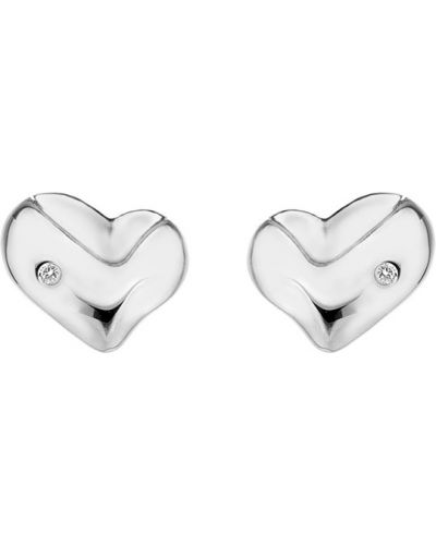 Серебряные серьги с бриллиантом Hot Diamonds