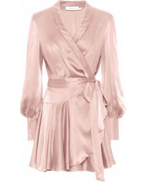 Платье мини с запахом шелковое Zimmermann