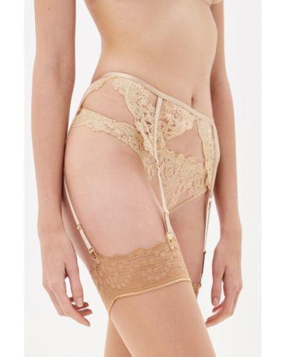 Чулки с поясом - золотые La Dea Lingerie & Homewear