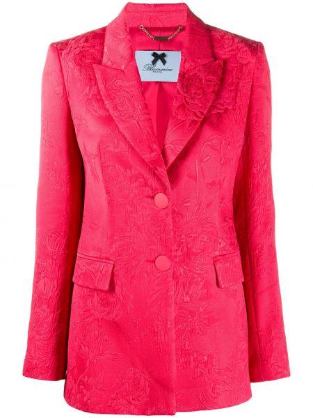 Хлопковый красный пиджак Blumarine