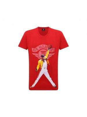 Красная хлопковая футболка Diego Venturino
