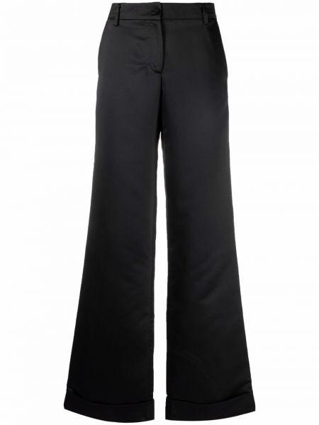 Черные брюки из вискозы Amen.
