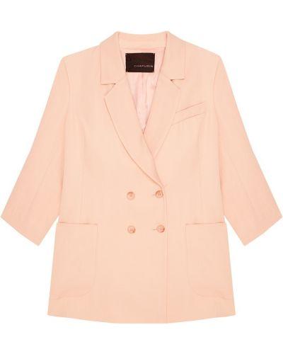Пиджак двубортный с подкладкой с воротником Chapurin