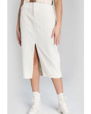 Джинсовая юбка с завышенной талией с карманами Ostin
