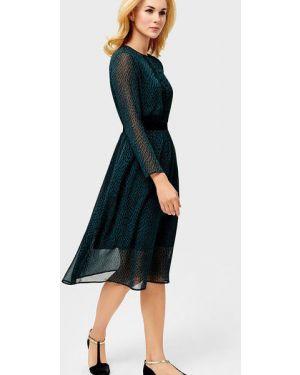 Приталенное шифоновое платье с воротником на резинке Ostin