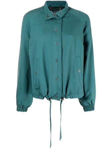 Зеленая куртка длинная Ginger & Smart